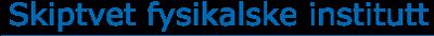 Skiptvet Fysikalske Institutt Logo